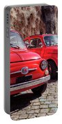 Fiat 500's In Bracciano Italy Portable Battery Charger