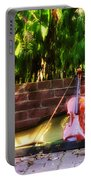Fiddle On The Garden Wall Portable Battery Charger