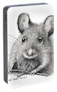 Field Mouse Or Meadow Vole Portable Battery Charger