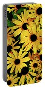 Field Of Black-eyed Susans Portable Battery Charger