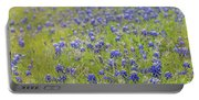 Field Of Blue Bonnet Flowers Portable Battery Charger