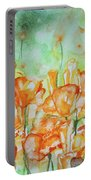 Field Of California Poppies Portable Battery Charger