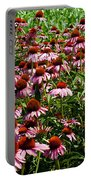 Field Of Echinacea Portable Battery Charger