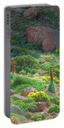 Field Of Echium Wildpretii In The Teide National Park Portable Battery Charger