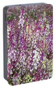 Field Of Multi-colored Flowers Portable Battery Charger