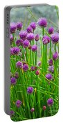 Field Of Onions  Portable Battery Charger