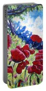 Field Of Poppies 02 Portable Battery Charger