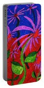 Field Of Purple Flowers Portable Battery Charger
