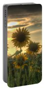Field Of Sunflowers Portable Battery Charger