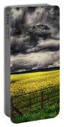 Field Of Yellow Flowers Portable Battery Charger