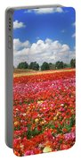 Fields Of Flowers At Nir Banim Portable Battery Charger