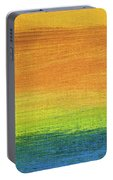 Fields Of Gold 1 - Abstract Summer Landscape Painting Portable Battery Charger