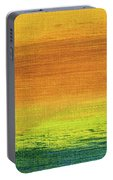 Fields Of Gold 3 - Abstract Summer Landscape Painting Portable Battery Charger