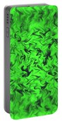 Fiery Green Portable Battery Charger