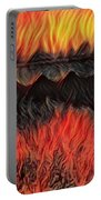 A Hot Valley Of Flames Portable Battery Charger
