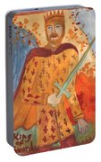 Fiery King Of Swords Portable Battery Charger