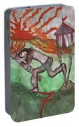 Fiery Seven Of Swords Illustrated Portable Battery Charger