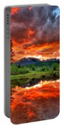 Fiery Sunset Portable Battery Charger