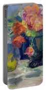 Fiesta Of Flowers - Vibrant Original Impressionist Oil Painting Portable Battery Charger