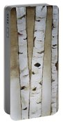 Fifteen Birch Trees Portable Battery Charger