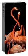 Fighting Flamingos Portable Battery Charger