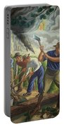 Fighting Forest Fire Portable Battery Charger