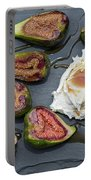 Figs Dessert With Mascarpone Portable Battery Charger