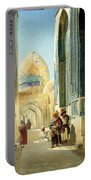 Figures In A Street Before A Mosque Portable Battery Charger by Richard Karlovich Zommer