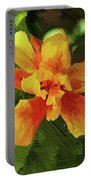 Fijian Hibiscus Abstract In Del Mar 1 Portable Battery Charger