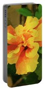 Fijian Hibiscus Abstract In Del Mar 2 Portable Battery Charger