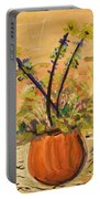 Filled Terra Cotta Vase Portable Battery Charger