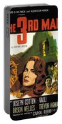 Film Noir Poster  The Third Man Portable Battery Charger