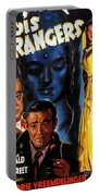 Film Noir Poster Three Strangers Portable Battery Charger