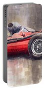 Final Check Before The Start Maserati 250 F 1957 Portable Battery Charger