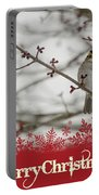 Finch Christmas Portable Battery Charger