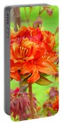 Fine Art Floral Art Prints Canvas Orange Rhodies Baslee Troutman Portable Battery Charger