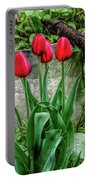 Fine Wine Cafe Red Tulips Portable Battery Charger