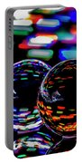Finger Light Painted Glass Ball Abstract Portable Battery Charger