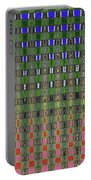 Fir Tree Forest Abstract #7215wt Portable Battery Charger