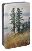 Fir Trees Portable Battery Charger