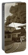 Fire At Cannery Row, Custom House Packing Company Sea Beach Cannery 1953 Portable Battery Charger