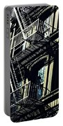 Fire Escape On Franklin Street 2 Portable Battery Charger