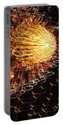 Fire Flower Portable Battery Charger by Karen Wiles