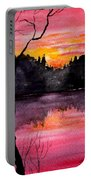 Fire In The Sky    Lake Arrowhead Maine Portable Battery Charger