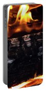 Fire On Wood Portable Battery Charger