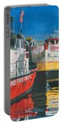 Fireboat And Ferries Portable Battery Charger by Dominic White