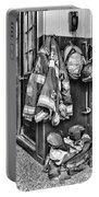 Fireman - Always Ready - Black And White Portable Battery Charger