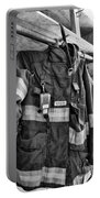 Fireman - Saftey Jacket Black And White Portable Battery Charger