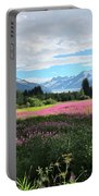 Fireweed At Mendenhall Glacier, Juneau, Ak Portable Battery Charger