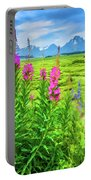 Fireweed In The Foreground 2 Portable Battery Charger